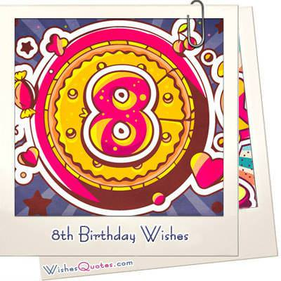 8th Birthday Wishes