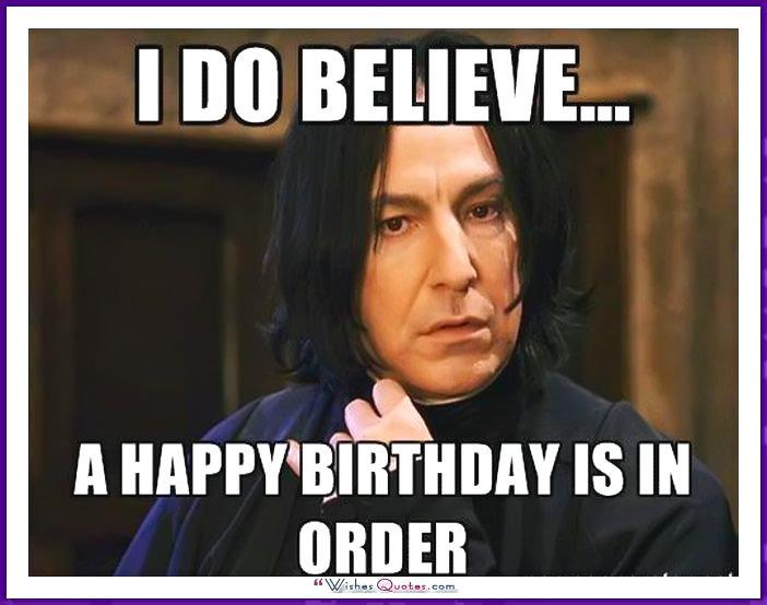 Harry Potter Movie - I do believe a happy birthday is in order.