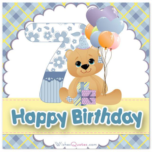 Happy 7th Birthday Wishes For 7 Year Old Boy Or Girl