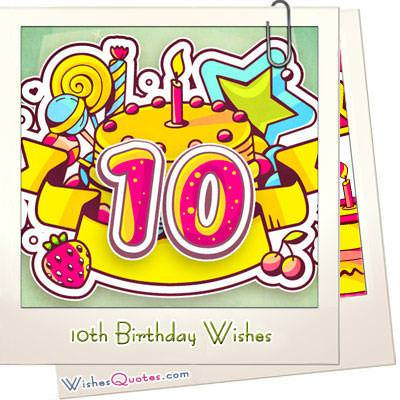 10th birthday wishes featured image