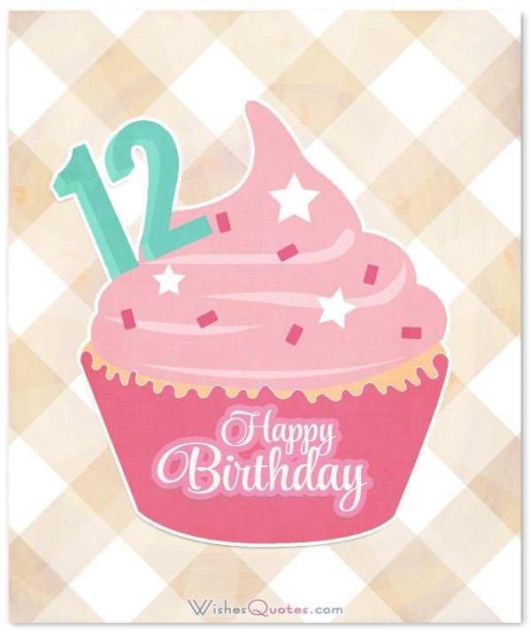 Astounding Happy 12Th Birthday Wishes For 12 Year Old Boy Or Girl Funny Birthday Cards Online Overcheapnameinfo