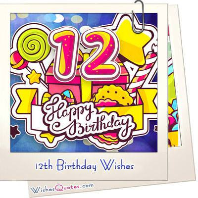 12th birthday wishes featured image