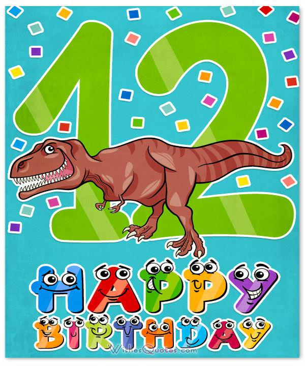 Happy 12th Birthday Wishes