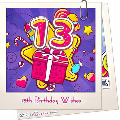 13th Birthday Wishes