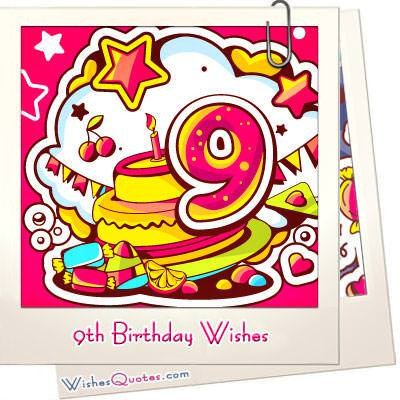 9th birthday wishes featured image