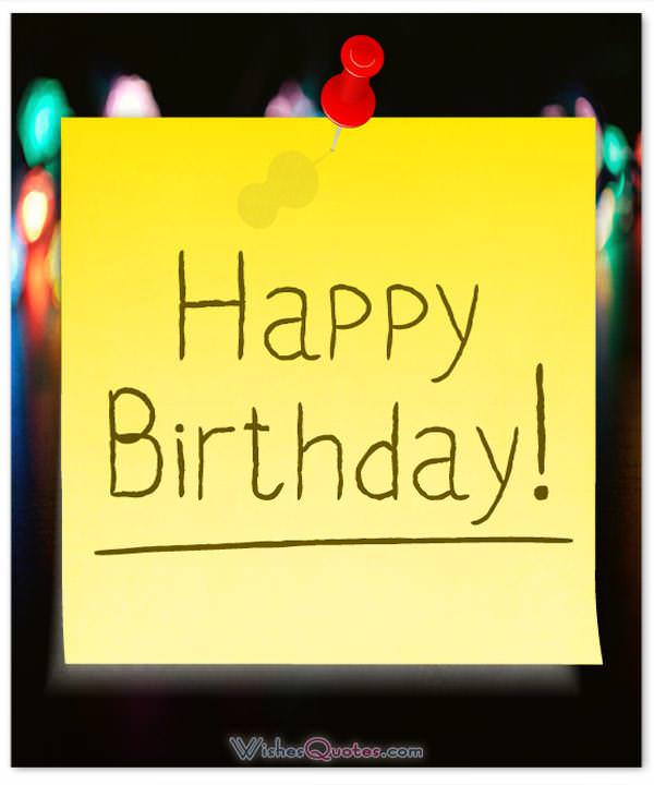 Happy birthday note