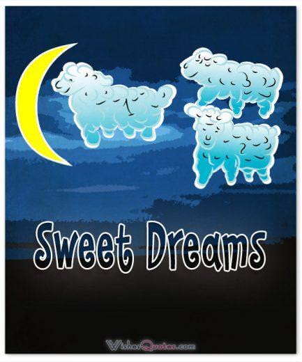 Sweet dreams counting sheep