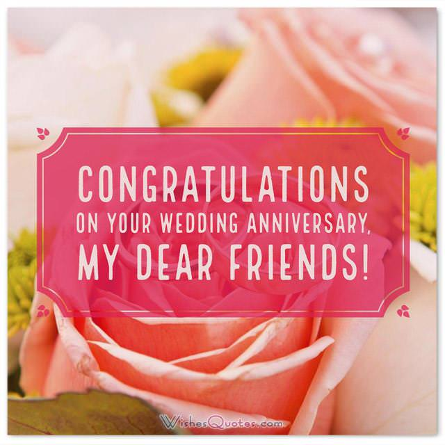 Anniversary Card For Friends Congratulations On Your Wedding Anniversary My Dear Friends