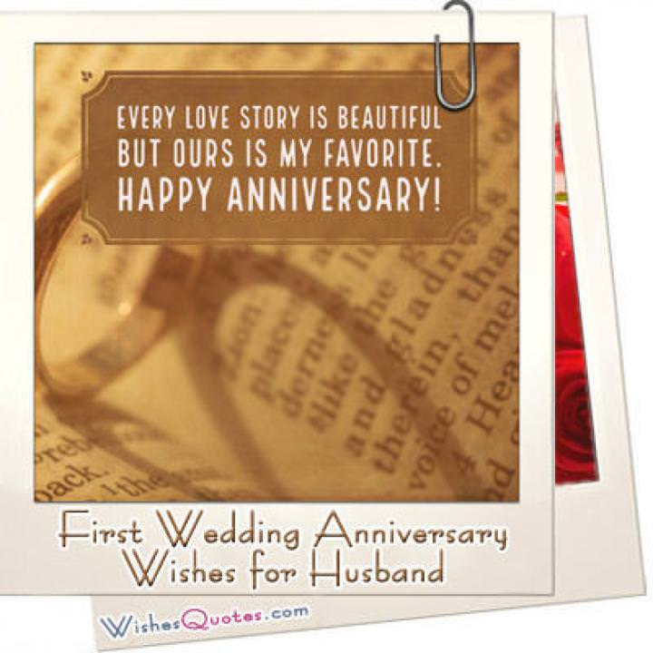 First anniversary husband featured