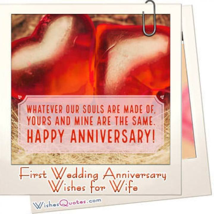 First anniversary wife featured
