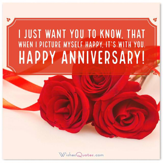 First Wedding Anniversary Wishes For Wife I Just Want You To Know