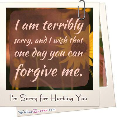 Im sorry for hurting you