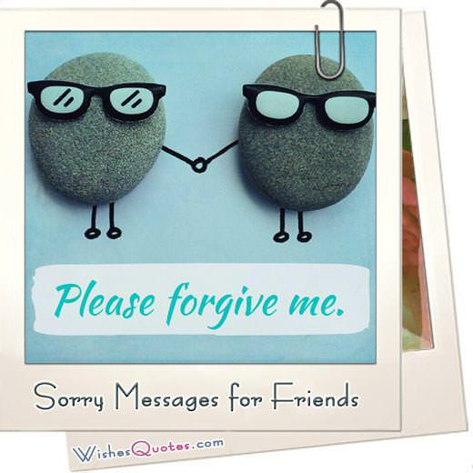 Sorry messages for friends featured