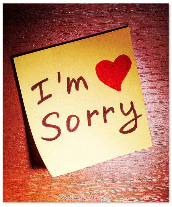 I'm sorry my sweetheart