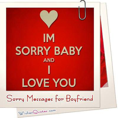Im Sorry Messages For Boyfriend Sweet Apology Quotes For Him