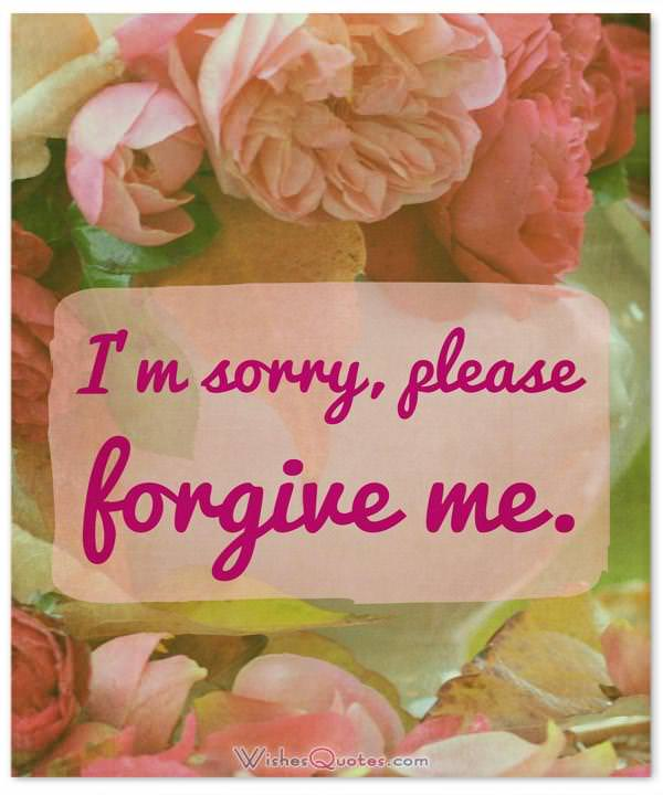 Sorry Message: I'm sorry, please forgive me.