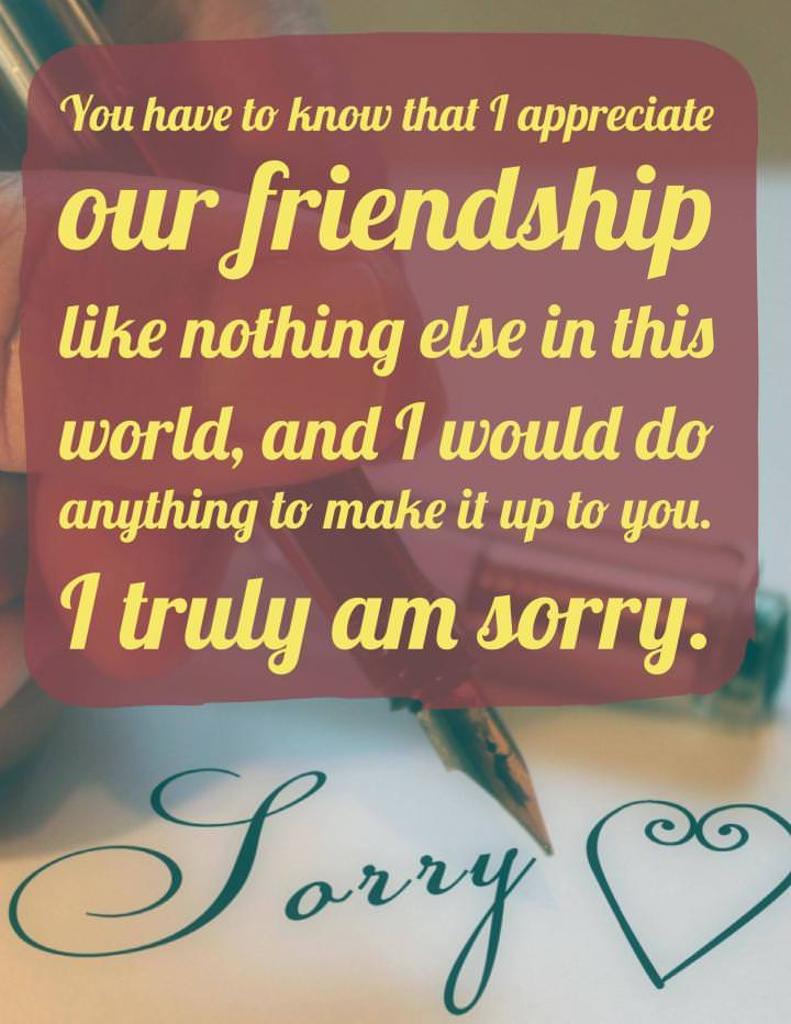 Sample Apology Letters to a Friend