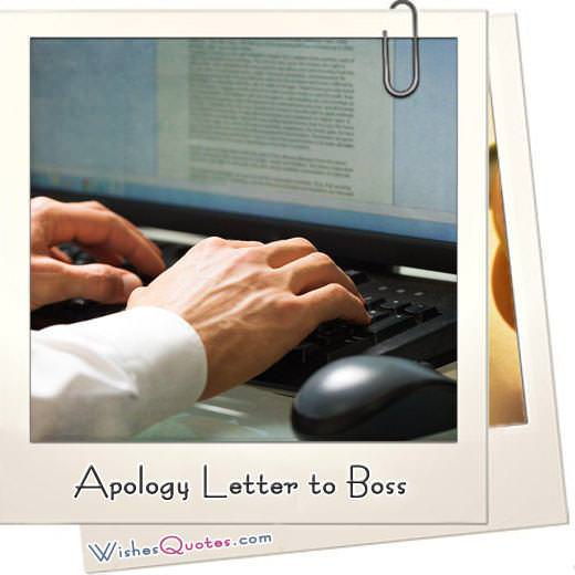 Apology letter to boss featured