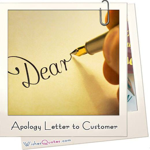 Customer Service Apology Letter from www.wishesquotes.com