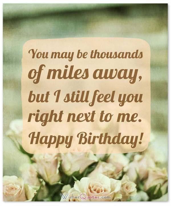 birthday wishes for someone special who is far away