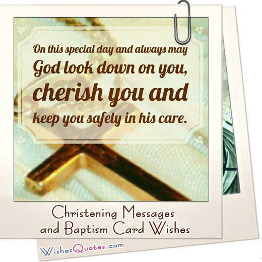 Christening Messages and Baptism Card Wishes