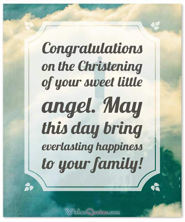 Christening Messages And Baptism Card Wishes Wishesquotes