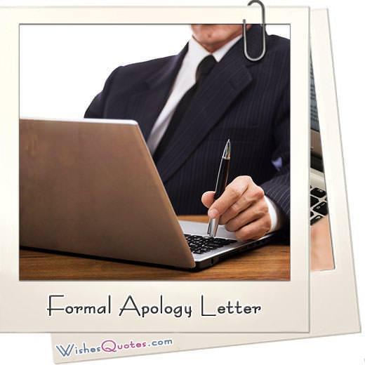 Formal Apology Letter Samples