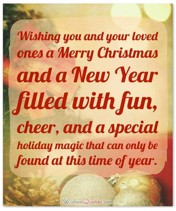 ... Christmas Wishes: Wishing You And Your Loved Ones A Merry Christmas And  A New Year