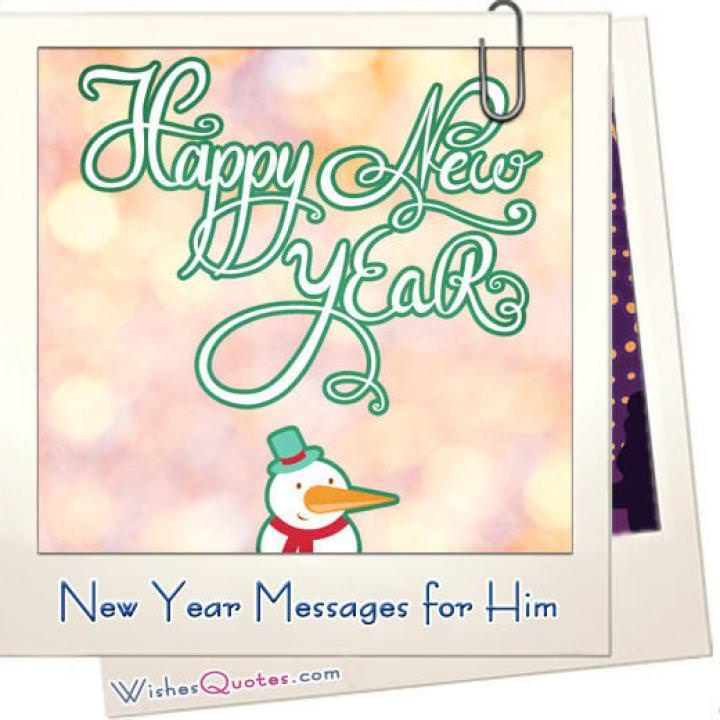 New year messages for him featured