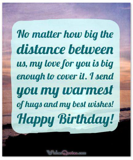 Birthday Messages for Someone who is Far Away