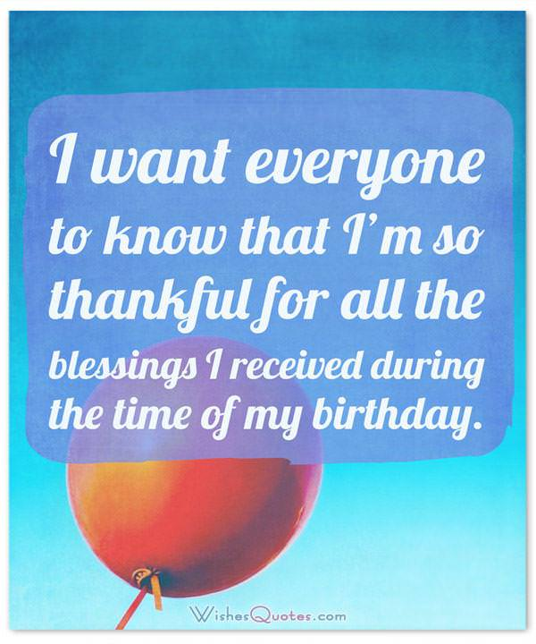 Birthday thank you messages the complete guide birthday thank you messages m4hsunfo Images