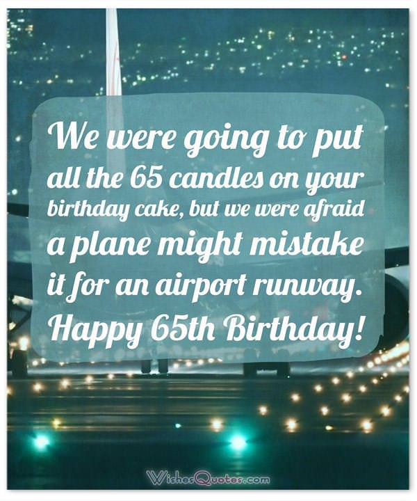 65th Birthday Wishes and Birthday Card Messages (Funny and