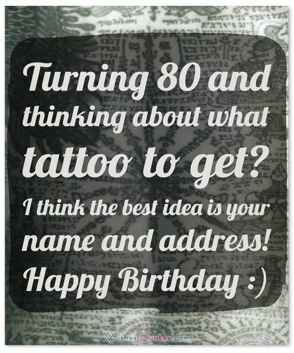 Extraordinary 80th birthday wishes suited for any 80 year old funny 80th birthday wishes m4hsunfo Gallery