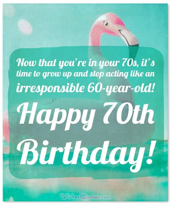 70th Birthday Wishes And Birthday Card Messages Wishesquotes