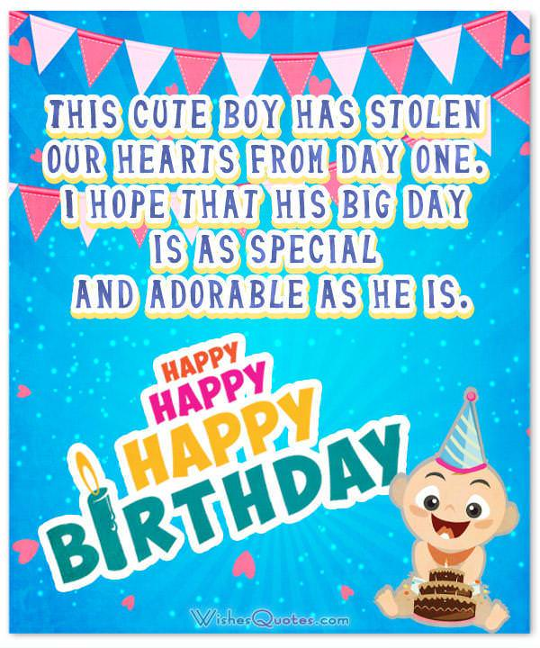 Wonderful birthday wishes for a baby boy happy birthday little boy birthday wishes for baby boy this cute boy has stolen our hearts from day one bookmarktalkfo Choice Image