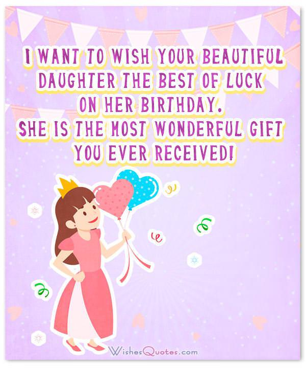 Cute Card with Birthday Wishes for Baby Girl
