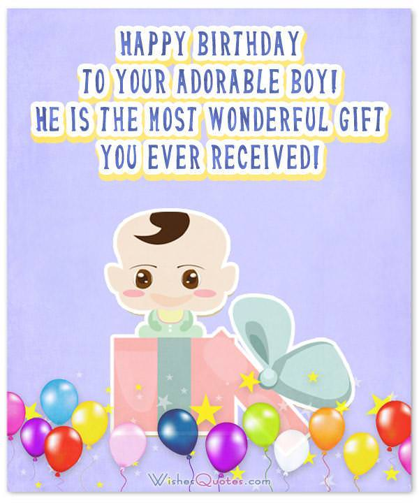 Birthday Wishes For Baby Boy Happy To Your Adorable He Is The