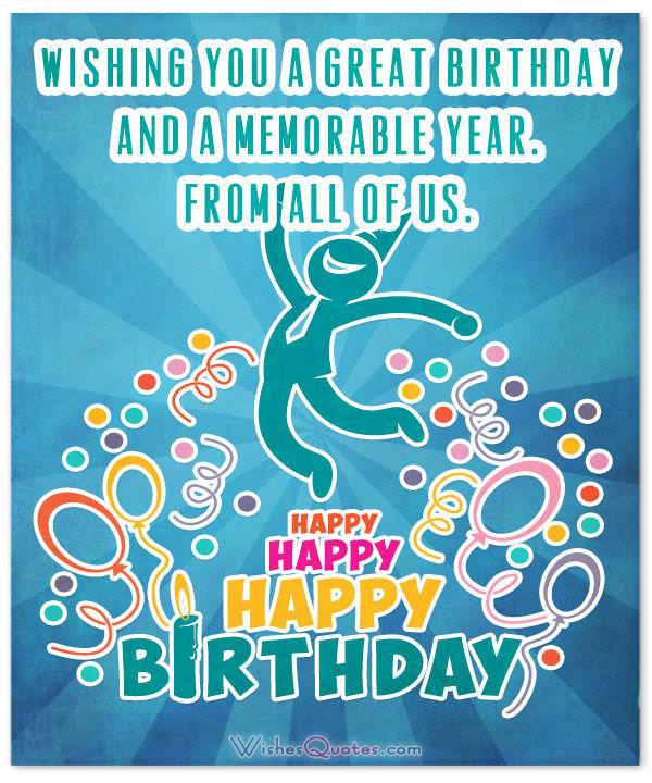 Birthday Wishes for Employees: From All Of Us Happy Birthday