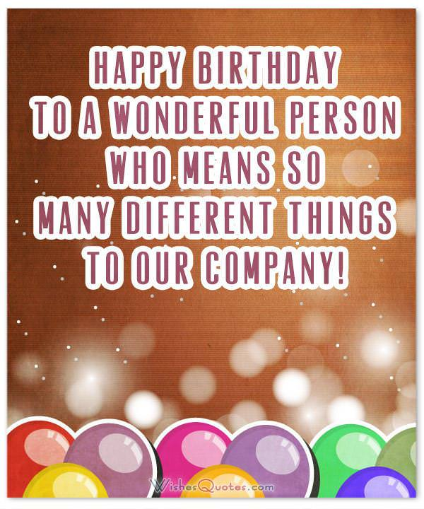Birthday Wishes for Employees: Happy Birthday For Employees