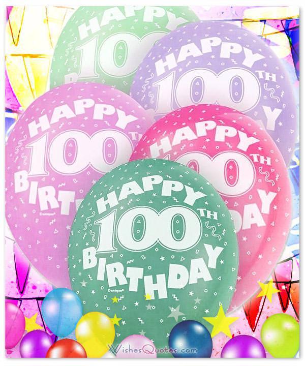 100th Happy Birthday Balloons