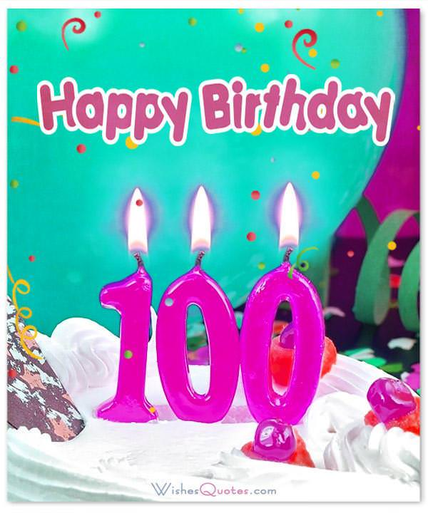 100th Happy Birthday Messages