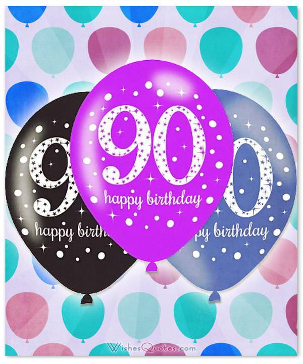 90 Birthday Balloons - Free 90th Birthday Greetings and eCards