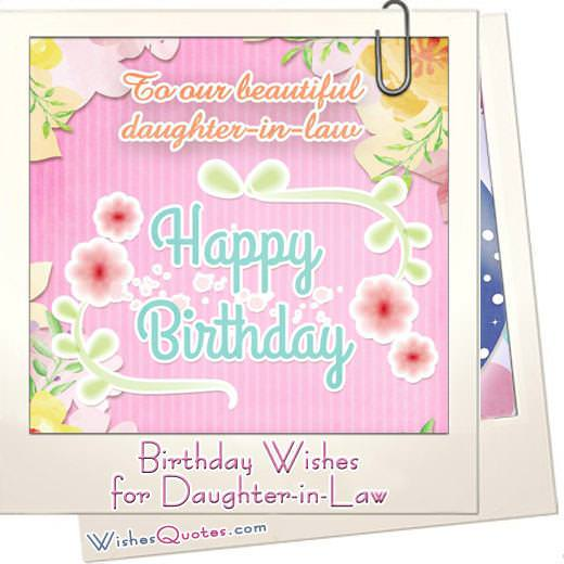 Birthday Wishes for Daughter-in-Law from the Heart