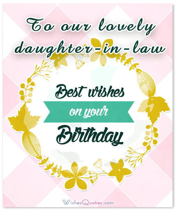 Birthday Wishes For Daughter In Law From The Heart WishesQuotes