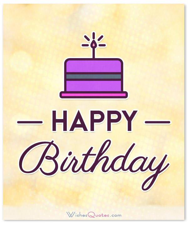 Happy Birthday Card Simple And Elegant