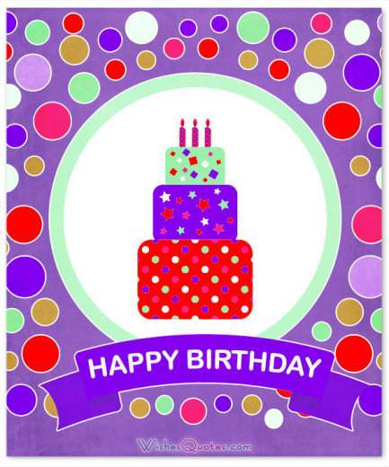 Happy Birthday Purple Card