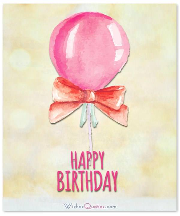 Simple Happy Birthday Card With Balloon