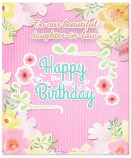 Birthday Wishes For Daughter-in-Law From The Heart By