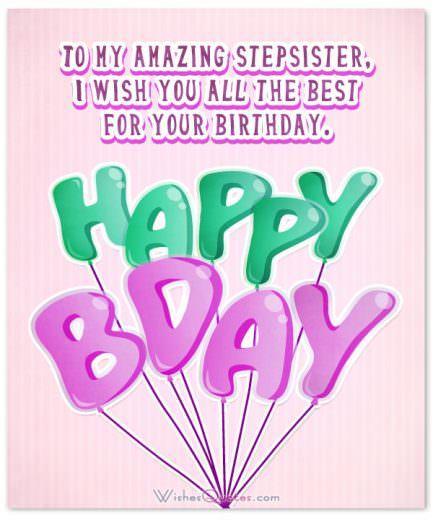 Amazing Stepsister Happy Birthday