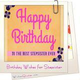 Birthday Wishes For Stepsister Featured